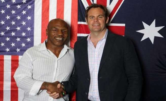 Mike Tyson and Andrew Baxter